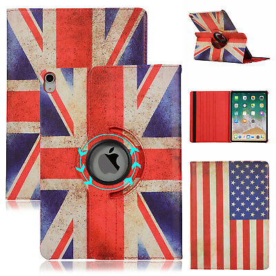 Flag Patterned 360º Rotating Leather Smart Case Cover for iPad 9.7 2018 6th 2017