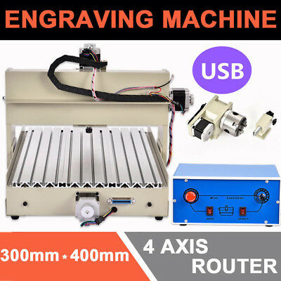 3040 Usb Router Engraver Engraving Cutter 4 Axis 400W T-Screw Desktop Cutting