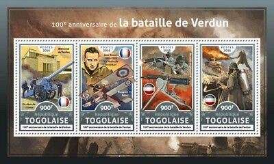 Z08 TG16602a Togo 2016 Battle of Verdun MNH Mint