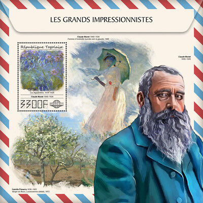 Z08 TG17507b Togo 2017 Great Impressionists MNH Mint