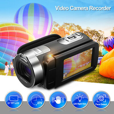 """1080P FHD 24MP 2.7"""" LED Night View 16x Zoom Video Camera Electric DV Camcorder"""