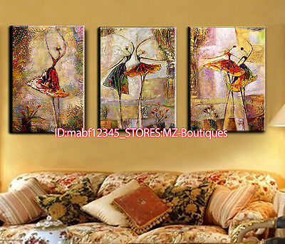 3pcs Hand painted abstract dancrs Oil Canvas Wall Art Home Decor NO Frame YH1163