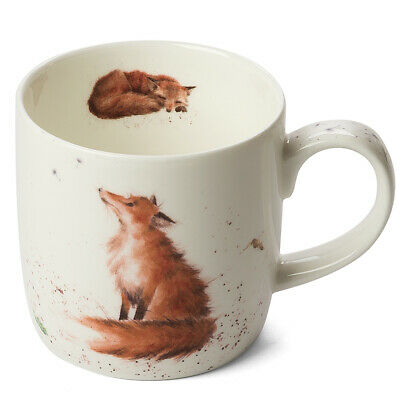 NEW Royal Worcester -Wrendale Designs The Artful Poacher Fox Mug