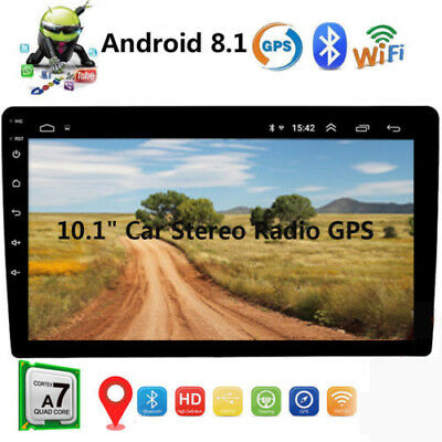 """10.1"""" Android 8.1 Bluetooth Car Stereo Radio 2 DIN Touchscreen MP5 Player GPS"""