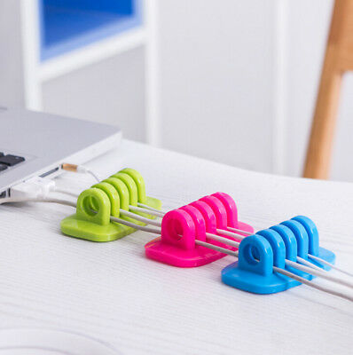 1PC Desk Wire 2016 Holder USB Charger Clip Cable Drop Organiser Tidy Cord HOT