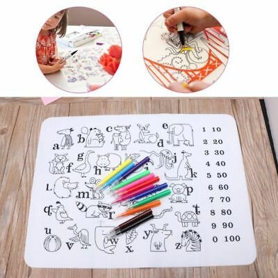 Baby Feeding Waterproof Silicone Dinnerware Tableware Kids Washable Placemat Set