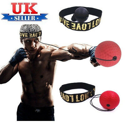 Hand Eye Training Set Head-Mounted Boxing Reflex Ball Raising Reaction Force UK0