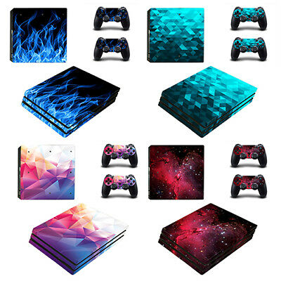 PlayStation 4 Pro Console Skin Vinyl Stickers + 2 Controller Skins PS4 Pro Decal