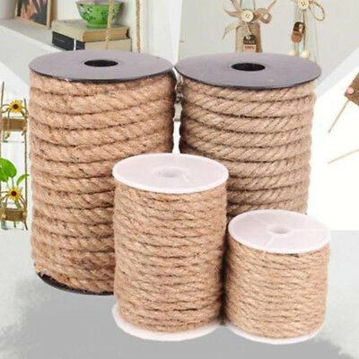 Macrame 4 6 8 10mm 10m Jute Rope Twine Rope Natural Hemp Cord String Decor Craft