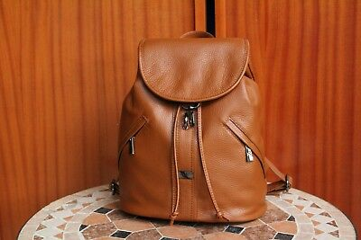 0c25a28fac VERSACE 19.69 Women s 100% Leather Brown Backpack Free Shipping Italy Made  w Tag