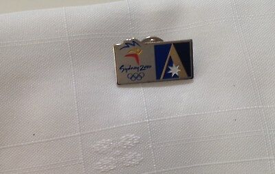 Collectable metal badge - 2000 Sydney Olympic Games - Ansett Airlines
