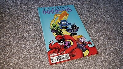 UNCANNY INHUMANS #1 of 20 YOUNG VARIANT (2015) MARVEL SERIES