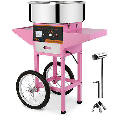 Cotton Candy Machine + Cart Electric Commercial Floss Maker Great Fast Delivery