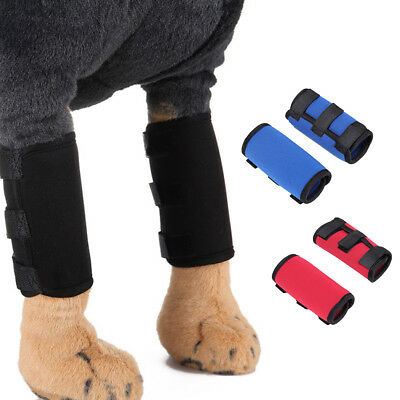 CN_ 2Pc Dog Knee Leg Protector Therapeutic Support Brace Sleeve Compression Wr