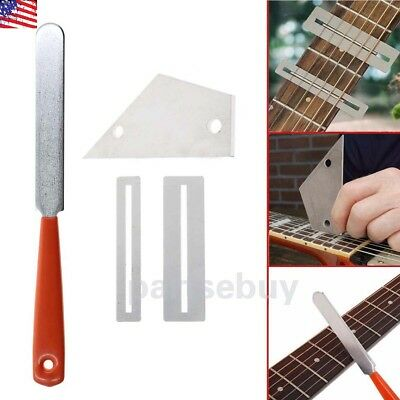 Guitar Fret Crowning Luthier File+ Fingerboard Fret Protector Guard repair Tool