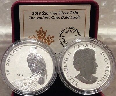 2019 Valiant Bald Eagle $20 1OZ Pure Silver Proof Coin Canada