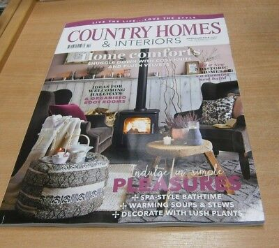 Country Homes & Interiors magazine FEB 2019 Cosy Knits & Plush Velvets, Spa-Styl