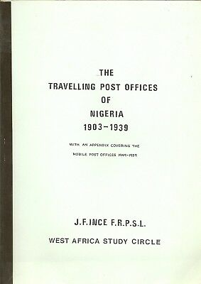 Nigeria Travelling Post Offices 1903-69 By West Africa Study Circle In 1991