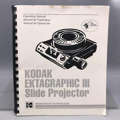 Vintage Kodak Ektagraphic III Slide Projector Instructions Manual