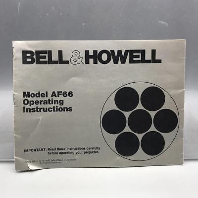 Vintage Bell & Howell AF66 Movie Projector Instructions Manual