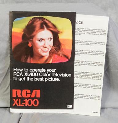 Vintage RCA XL-100 Color Television Instructions Manual (g25)