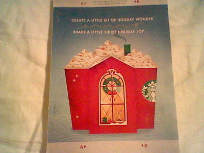 Starbucks Christmas Holiday Red Cup Authentic 2013 Magazine Print ad