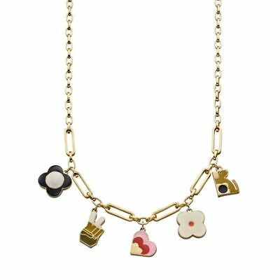 Brand New Orla Kiely Silver Plated Open Flower Choker Necklace RRP £130