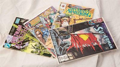Vintage Lot Bd Livres Superman Vietnam Archer Armstrong Valiant Youngblood