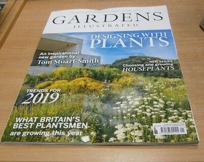 Gardens Illustrated magazine JAN 2019 Designing with Plants, Houseplants, Trends