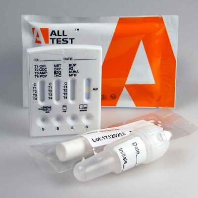 13 IN 1 Drugs Saliva Drug Testing Kit UKDT 13 drug includes alcohol screen test