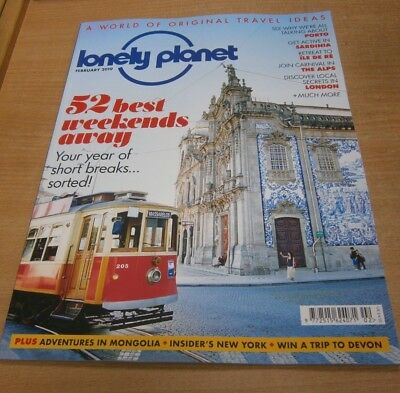 Lonely Planet magazine FEB 2019: 52 Best Weekends Away, Mongolia adventures &