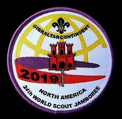 GREAT***24th 2019 WORLD SCOUT JAMBOREE GIBRALTAR OFFICIAL CONTINGENT BADGE PATCH