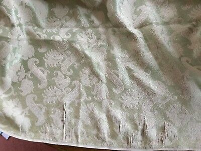 "Pair Of Vintage Curtains 43"" Wide By 60"" Drop - Quilting Craft Fabric Green Gold"