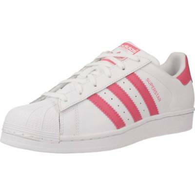 le dernier 9fbb8 dfdcd BASKET POUR FILLE ADIDAS ORIGINALS SUPERSTAR J, Color Blanc