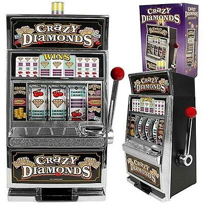 Slot Machine Adult Home Casino Jackpot Game Spin Coin Bank Lotto Crazy Diamonds