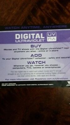 Digital ULTRAVIOLET Code ONLY DUMB & AND DUMBER TO 2 (NO DISCS)