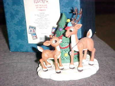 Enesco Rudolph With Comet No More Reindeer Games Figurine MIB #104258 From 2002