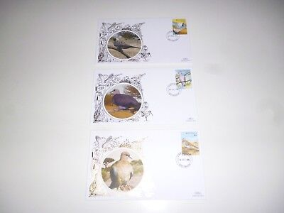3 x BOTSWANA ASSORTED BIRDS FIRST DAY COVERS FDC BENHAM *READ & AS PICTURES*
