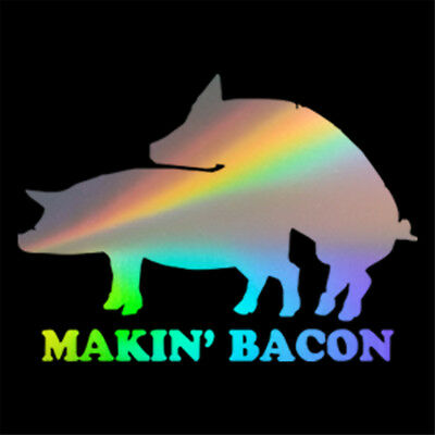 Funny Bacon Two Pig Sticker Car Window Door Bumper Truck Home Laptop Wall Decal