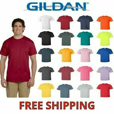 Gildan Men's Ultra Cotton T-Shirt Short Sleeve Tee Plain Blank Solid 2000 S-5XL