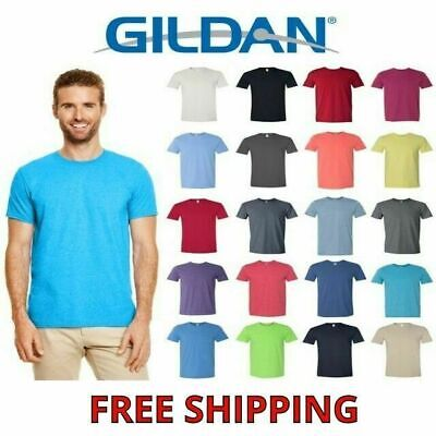 Gildan Men's Cotton Short Sleeve Softstyle T Shirt Blank 64000 S-3XL 27 Colors