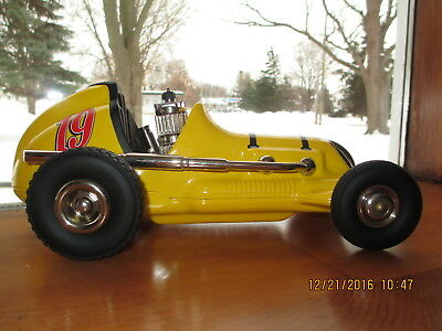 Vintage Nylint yellow midget tether race car