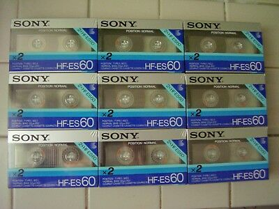 Sony HF-ES 60x2 cassette packs, 1986. superferro!