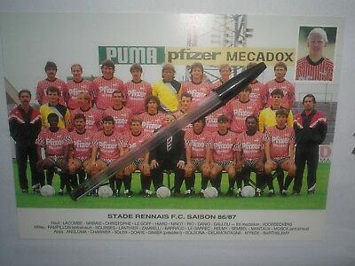 photo football EQUIPE RENNES  STADE RENNAIS 1986/87