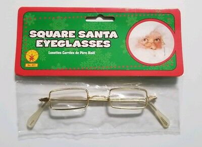 Rectangle Eye Glasses Santa & Mrs. Claus OLD Fashioned Spectacles Ben Franklin