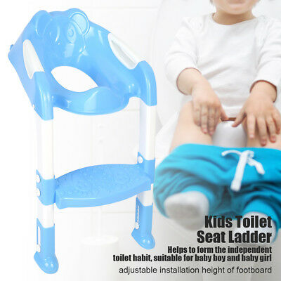 New Kids Baby Child Blue Toddler Potty Loo Training Toilet Seat & Step Ladder Uk