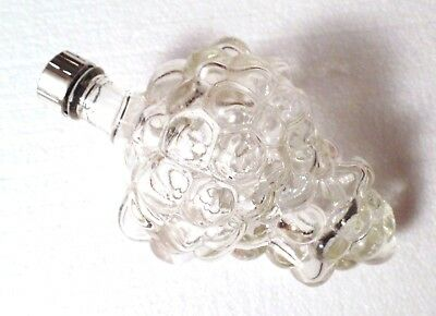 Vintage Clear Glass Figural Bunch of Grapes Bottle