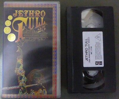 VHS musica Jethro tull 25th Anniversary video Picture Ian Anderson ROCK (117)