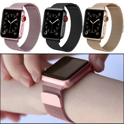 40mm 44mm For Apple Watch Series 4 Strong Magnetic Milanese iWatch Band Strap