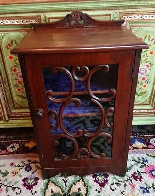 Music Sheet Cabinet Antique Edwardian Shelves Mahogany Rare Design Cupboard Old